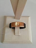 Каучуковое кольцо с золотом 585 пробы