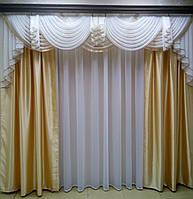 "Комплект шторы + ламбрикен+подхваты ""Антик"" (для карниза 3м)"