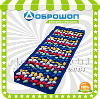 Массажный коврик с цветными камнями 100х40 см