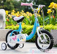 Детский велосипед для девочек Royal Baby Butterfly Steel 12 Новинка