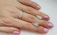 Комплект украшений серебро с золотом с камнями