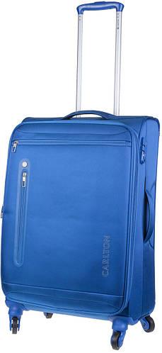 Гигантский синий чемодан из ткани на 4-х колесах CARLTON 100J480;04, 120 л.