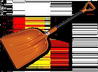 Лопата универсальная, пластиковая с металлическим черенком
