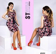 Женское летнее платье -штапель.Код-1001-Б-48р.