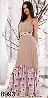 Длинное летнее платье-сарафан