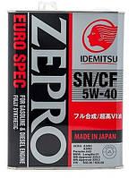 Масло моторое (в двигатель) 5W40 4L Idemitsu Zepro Eurospec 5w40 - 100% синтетика (Япония)