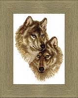 Набор для вышивания крестом  Чарівна Мить ВТ-058 Волк и волчица