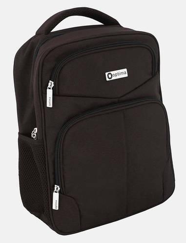"""Подростковый деловой рюкзак с анатомической спинкой OPTIMA 14"""" O97364 черный шоколад"""