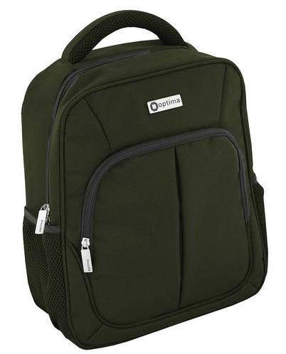"""Деловой женский рюкзак с отделением для ноута OPTIMA 14"""" O97365 темно-зеленый"""