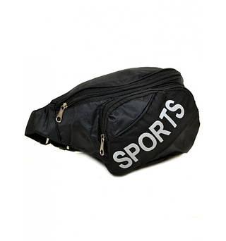 Удобная мужская сумка на пояс из текстиля, 9475 black, черный