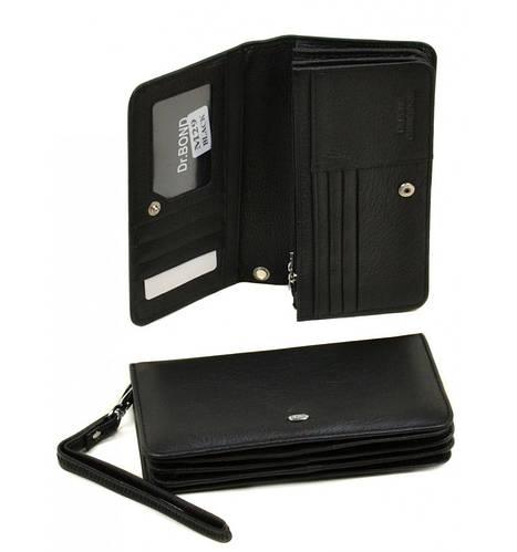 Стильный мужской кошелек Classik из кожи dr.Bond, M29 black, черный