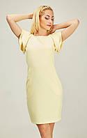 Милое платье с воланами желтого цвета