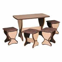 Столик + 4 табурета кухонные