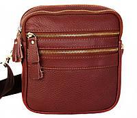 Кожаная сумка красного цвета для мужчин 30109
