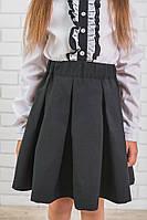 Школьная юбка для девочки черная, фото 1