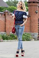 Красивая женская летняя свободная блуза