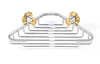 Мыльница металлическая угловая маленькая Andex Classic, хром-золото