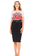 Оригинальное женское платье с цветочным принтом, фото 1