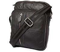 Мужская сумка черного цвета из натуральной кожи 300123