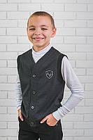 Жилетка для мальчика темно-серая, фото 1