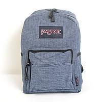 Стильний молодіжний рюкзак JanSport  (світло-сірий)