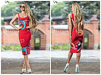 Красивое летнее платье футляр ниже колена