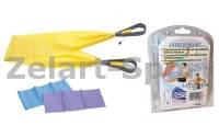 Ленты-эспандеры с ручками для пилатеса (3шт) (р-р 120см*15см*0,65; 0,5; 0,35мм) LY-320-3 (латекс, пластик)