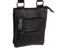 Мужская сумка среднего размера изготовлена из натуральной кожи 300133