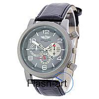 Мужские наручные часы Breitling Silver-Black