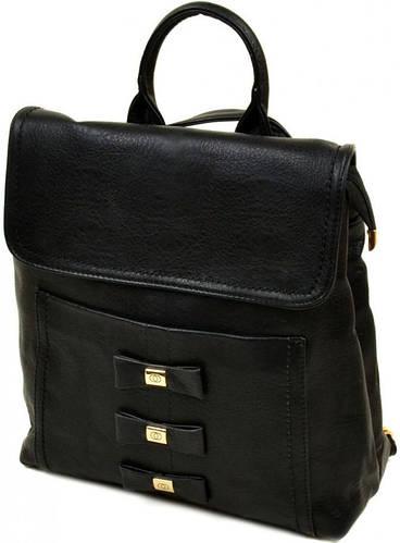 Стильный женский рюкзак из искусственной кожи 10 л. 06-1 16209 black, черный