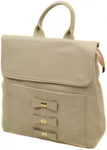 Замечательный женский рюкзак из искусственной кожи 10 л. 06-1 16209 deep-beige, бежевый