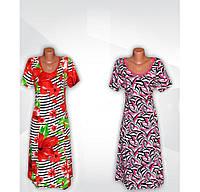 Платье женское летнее, с коротким рукавом, 100 % хлопок, р.р.48-60.
