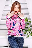 Женский розовый свитшот Дисней с Минни Маусами