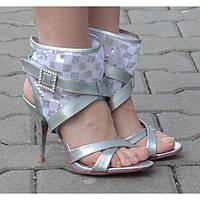 Модные серие женские босоножки на каблуку! Очень удобные!