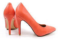 Стильные женские туфли оранжевого цвета на шпильке!