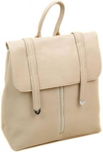 Женский чудесный рюкзак из искусственной кожи 12 л. 06-1 16201 beige, бежевый