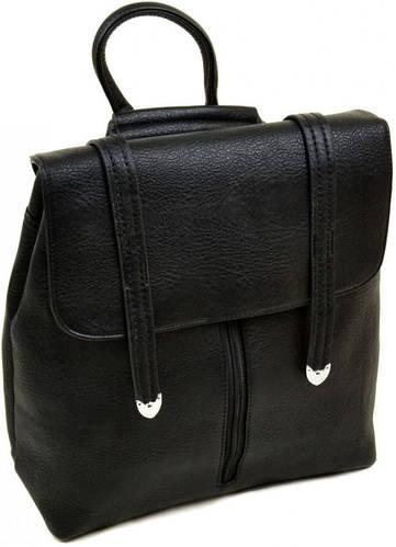Женский чудесный рюкзак из искусственной кожи 12 л. 06-1 16201 black, черный