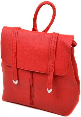 Женский чудесный рюкзак из искусственной кожи 12 л. 06-1 16201 red, красный
