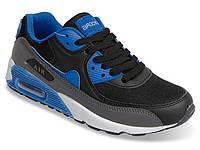 Женские кроссовки черно-синего цвета! Мега удобные!