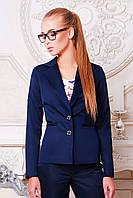 Пиджак женский Классик темно синий классический однобортный с двумя пуговицами