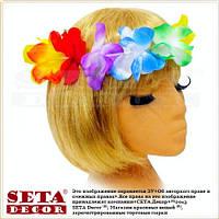 """Гавайский венок на голову из цветов """"Гавайи"""" разноцветный"""