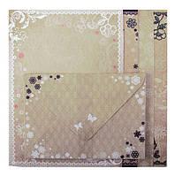 Заготовка для открыток с цветными конвертами ''Vintge'' 10.5x14.8см