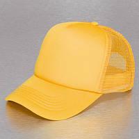 Желтая кепка тракер