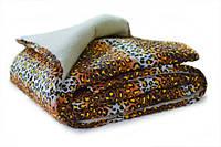 Одеяло полуторное из овечьей шерсти Лери Макс мех - тигровое