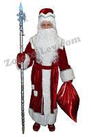 Костюм Деда Мороза из велюра красный