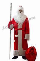 Костюм Деда Мороза из велюра с бородой