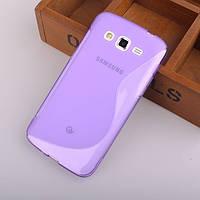Силиконовый чехол Duotone для Samsung Galaxy Grand 2 Duos G7102 фиолетовый
