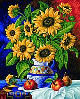 """Картина по номерам «Идейка» (КН088) художественный творческий набор """"Букет подсолнухов"""", 40x50 см"""