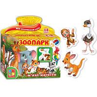 Развивающая игра, набор тематических магнитов Мой маленький мир Зоопарк Vladi Toys VT 3101-05 (укр)