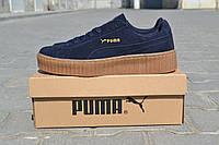 Мужские кеды кроссовки  Puma Rihanna  синие